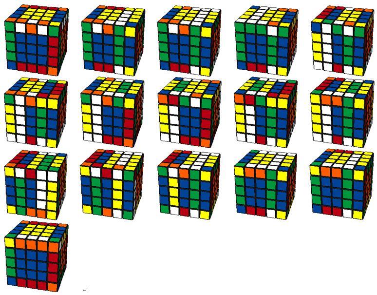 五阶魔方公式图解,五阶魔方还原,五阶魔方口诀