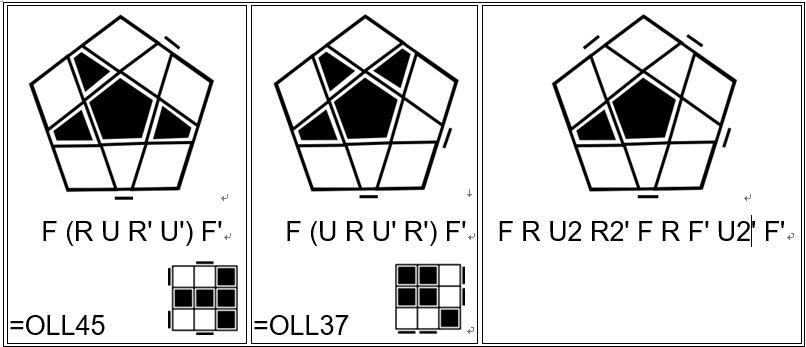 五魔方顶层公式(oopp和opop公式),五阶魔方教程图解