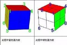 二阶魔方盲拧教程,二阶魔方盲拧公式